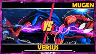 SpiderMan Vs Electro Recharged [Hard Fight] MUGEN CHAR - GAME CLIPS 4K