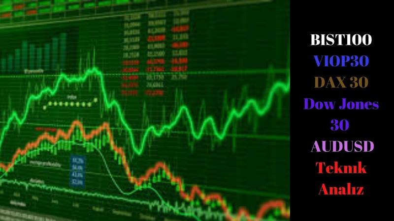 BIST100 VIOP30 DAX 30 Dow Jones 30 AUDUSD Teknık Analız