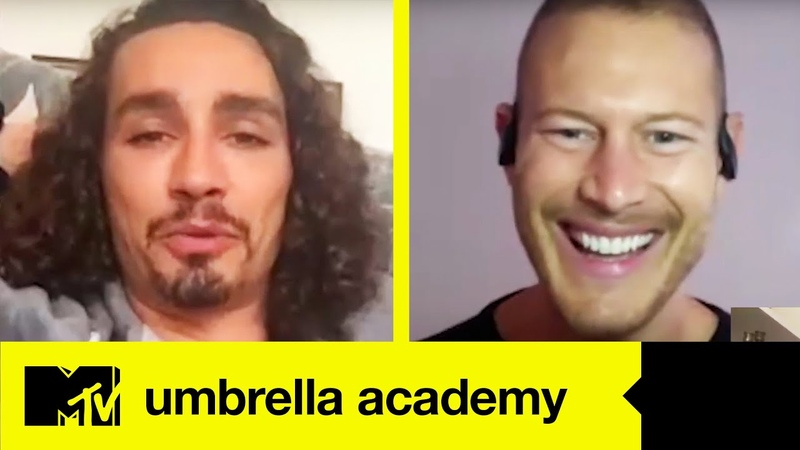 Umbrella Academy Stars Robert Sheehan Tom Hopper Play MTV Teen Show Charades MTV Movies