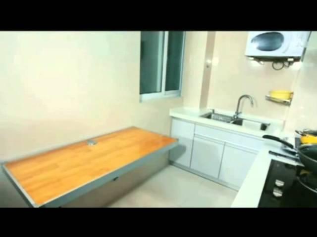 Smartbird S120 откидной настенный стол в кухне