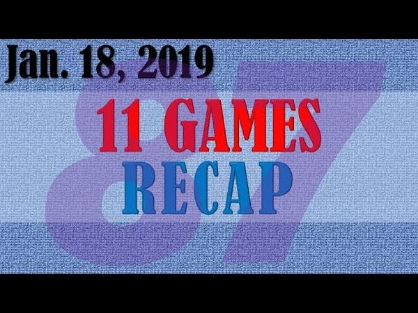 2020.01.18 DAY87 - 11 GAMES   NBA RECAP 하이라이트 1080p