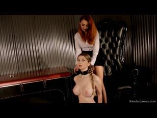 Kendra james, nadya nabakova aka bunny colby collared sex slave [lesbian, strapon, fetish]