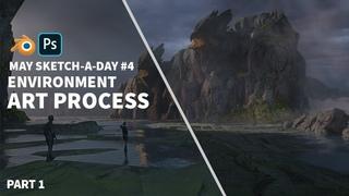 Part 1 Journey to the Nest: Environment Concept Art Process (3D Workflow)