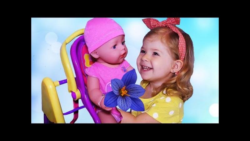 ✿ Куклы БЕБИ БОРН. Любимая Кукла. Диана Кормит Купает Играет Куклой. Baby Born doll toy bath time » FreeWka - Смотреть онлайн в хорошем качестве