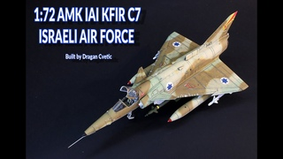 IAI Kfir C7 Israeli Air Force 1/72 AMK Plastic Model Kit Full Video Build