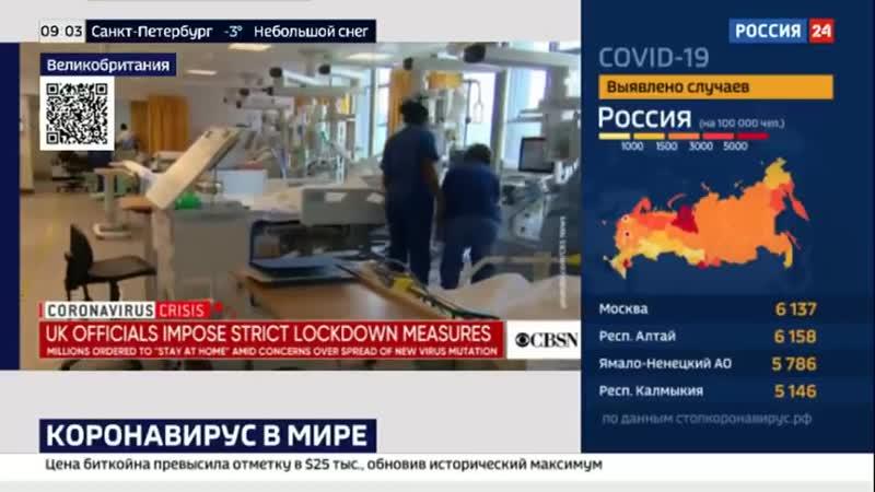 Британский штамм коронавируса все больше расходится по миру - Россия 24...Media Dump