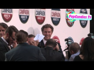 Will Ferrell & Zach Galifianakis with Cast at The Campaign Premiere in Hollywood