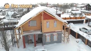 Строительство комбинированного дома по индивидуальному проекту.