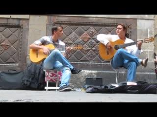 Flamenco Guitar. Barcelona street music (HD) /Фламенко на гитаре. Уличные музыканты Барселоны/