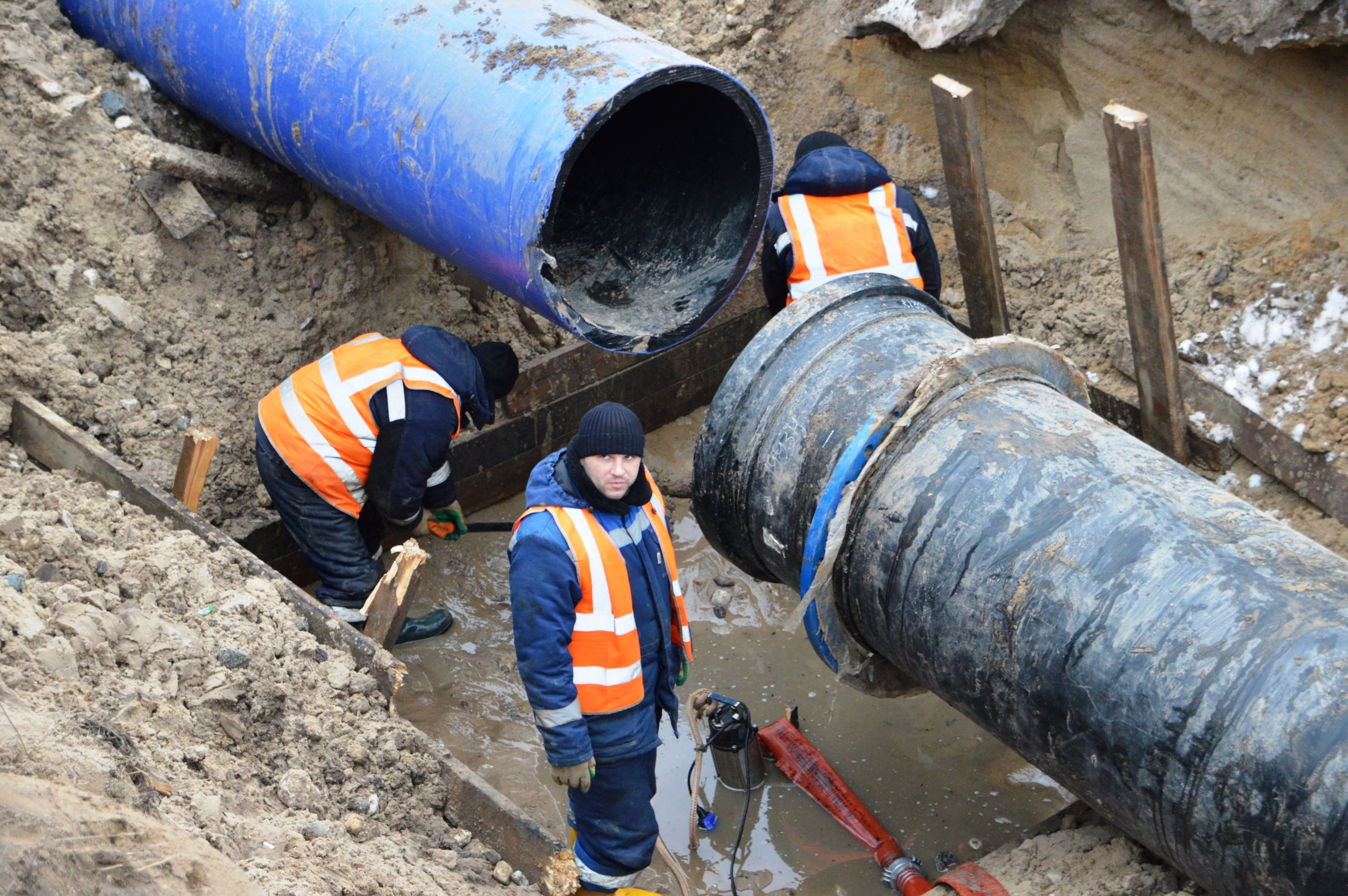В Твери модернизируют нитку водовода от Тверецкого водозабора до дюкера Восточного моста