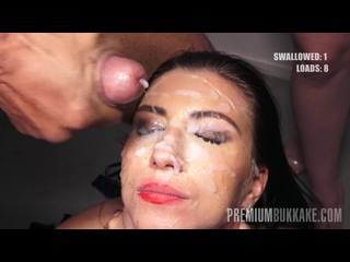 Premium Bukkake 2 - Henna Ssy Swallows 45 Cumshots PremiumBukkake PB