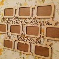 Рамки, буквы, слова и декор из дерева фото