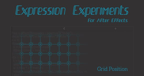 Эксперименты с выражениями в After Effects (+ проекты), изображение №1