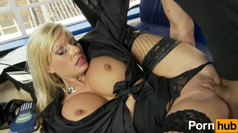 Michelle Thorne Parking Assisant in sexy high leather long boots gets