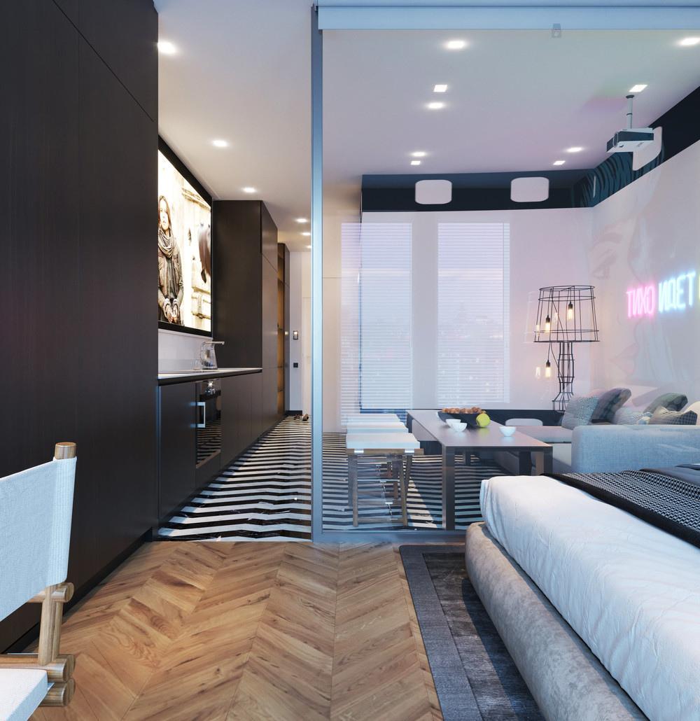 Проект квартиры 32,6 м.
