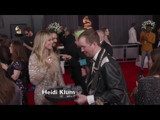 Grammy Awards: Kaulitz Twins and Heidi Klum at the Red Carpet drink tequila -