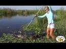 Блондинка убийца - охота рыбалка на крокодилов