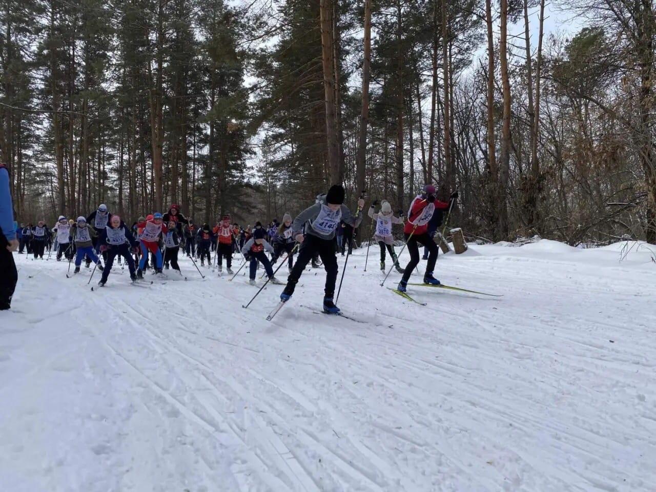 В Петровске прошли районные соревнования по лыжным гонкам
