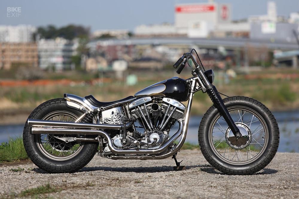Hidemo: кастом Harley-Davidson FLH Shovelhead 1970-х
