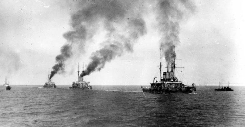 Эскадра Черноморского флота в походе, 1910-е гг.