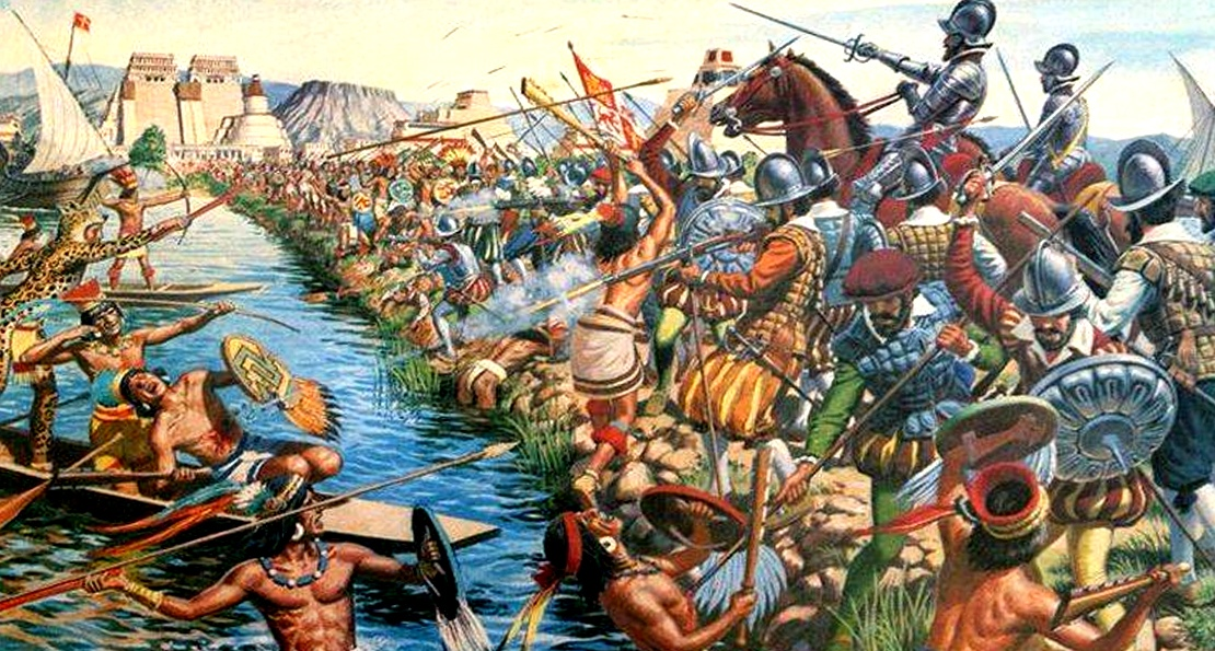 Атака конницы испанцев