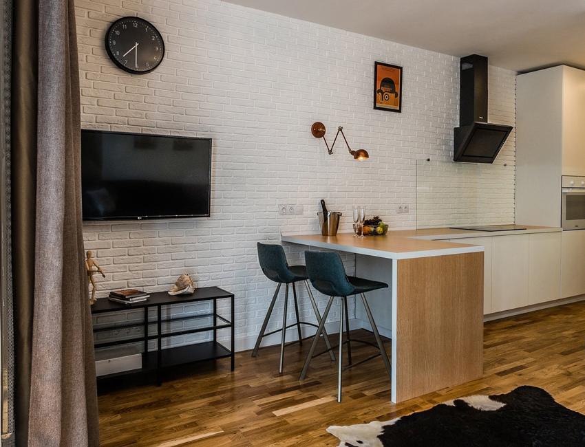 Дизайн квартиры-студии 36 м в Московской области.