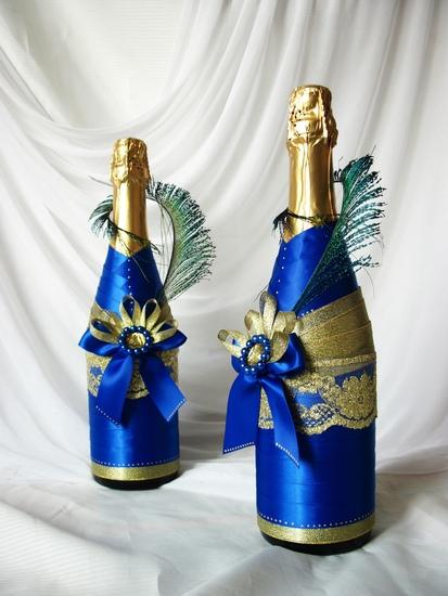 как оформить бутылку лентами, как оформить шампанское на юбилей, как оформить шампанское на праздник, шампанское на новый год 2021,