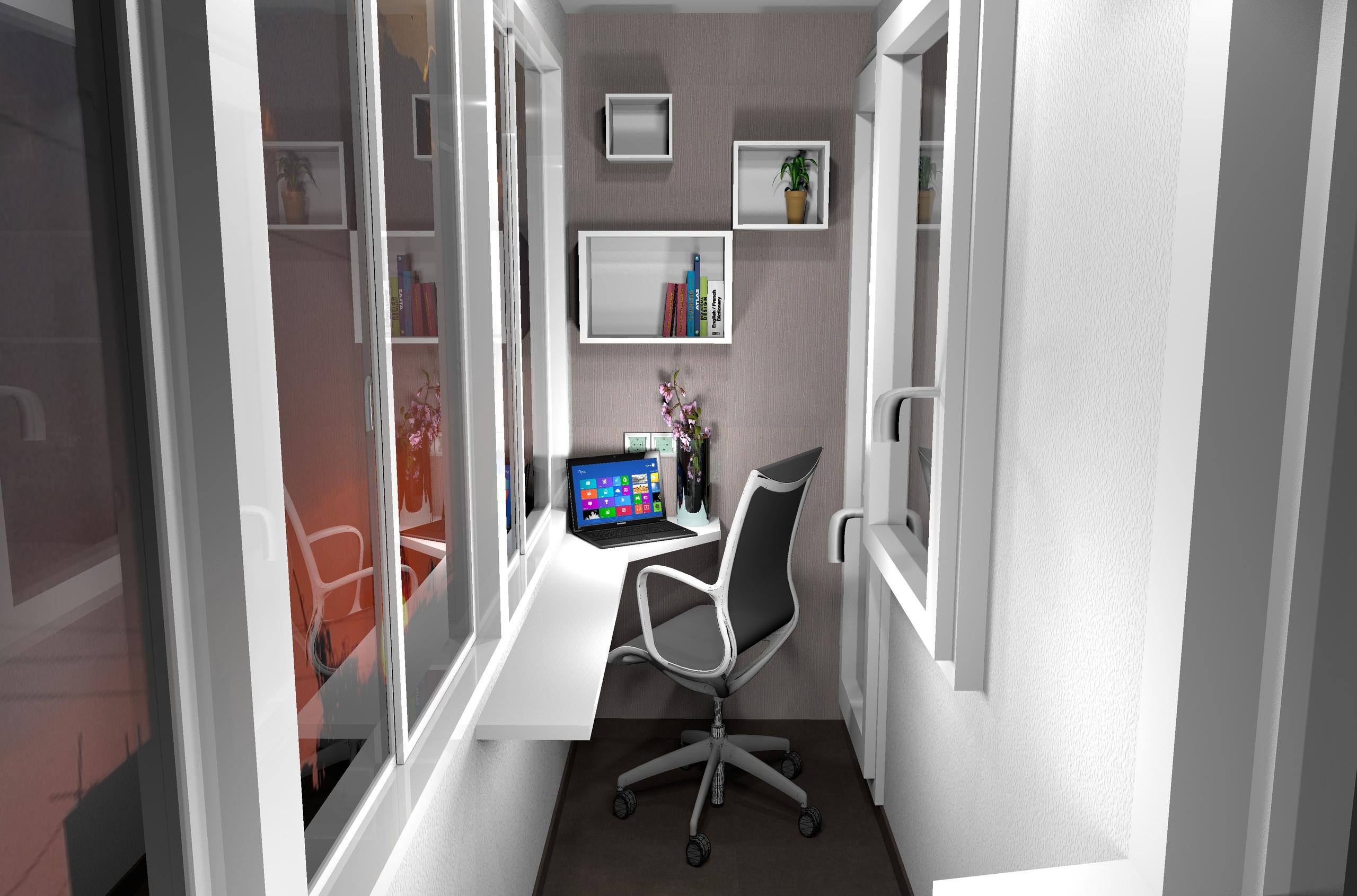 Проект квартиры-студии 26 кв/м .