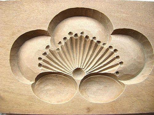 Японские деревянные резные формы Кашигата, изображение №15