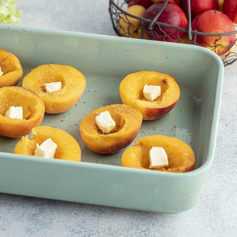 Персики с мороженым 🍑