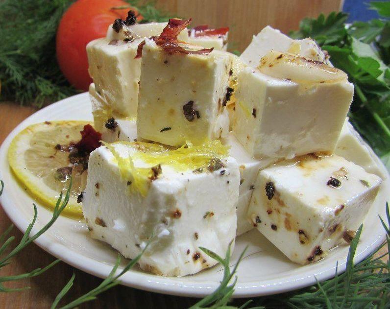 Сыр маринованный, волшебно вкусный