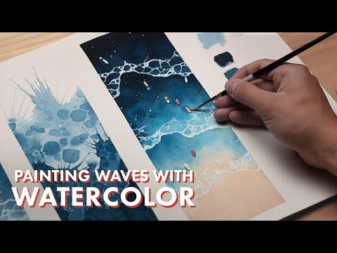 WATERCOLOR TUTORIAL How to Paint Waves