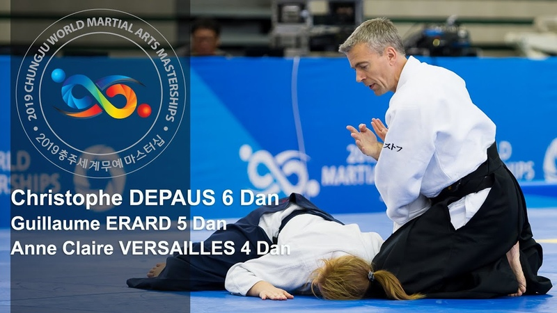 Demonstration of Experts in Aikido Christophe Depaus at World Martial Arts Masterships in Korea