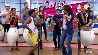 Natalia Oreiro al ritmo de los tambores