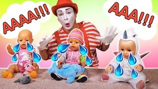 Rigolade pour enfants: compilation de vidéos drôles avec le mime et les jouets.