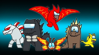 AMONG KAIJU | Godzilla in Among Us | DinoMania - animated cartoon movie