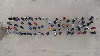 Луховицкие молодежные активисты устроили флешмоб и организовали выставку детских рисунков