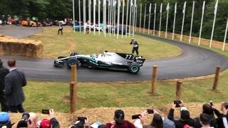 Bottas drifting in a 2017 F1 car