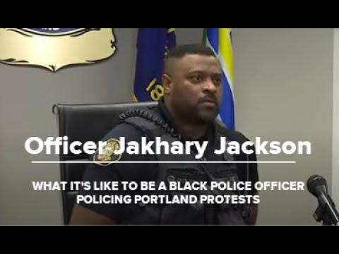 KGW What its like to be a Black officer policing Portland protests   Raw interview