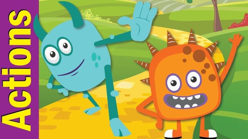 Stand Up Sit Down Actions Songs for Children Kindergarten Preschool ESL Fun Kids English