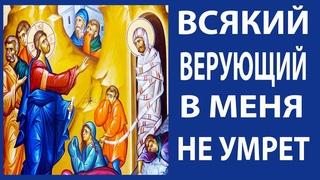 Сильное утешение всем, кто верует в Господа! Воскрешение Лазаря. Лазарева суббота