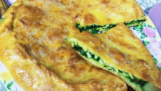 Дагестанские ЧУДУ в духовке! Тонкие лепешки с зеленым луком!