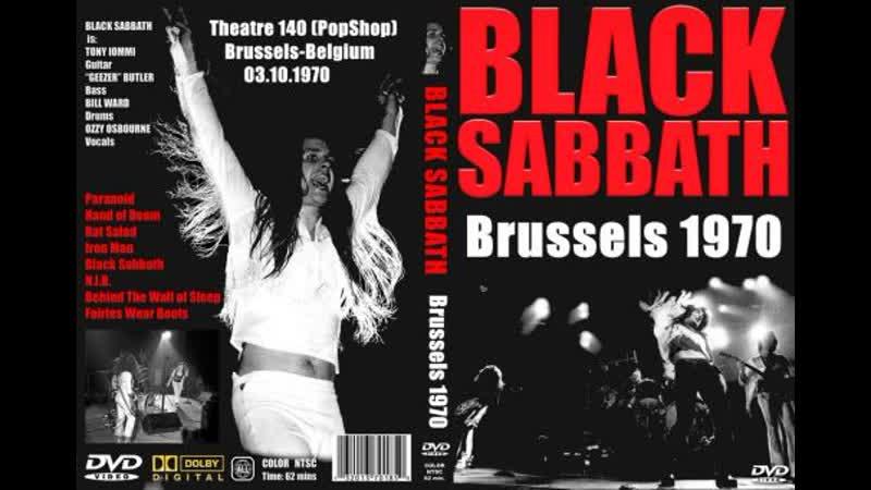 Black Sabbath 1970 Oct 3 Paranoid Tour Brussels Theatre 140 POPSHOP