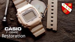 Restoration of a Casio Watch - Modified Too!  Casio F-108WHC