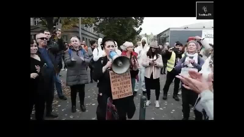 Протесты ковид диссидентов в Берлине