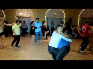 Henry Zelaya & Essie Tarpley Bachata Social Dance at Mr. Mambo's 50/50 Salsa Bachata Party 8/2/14