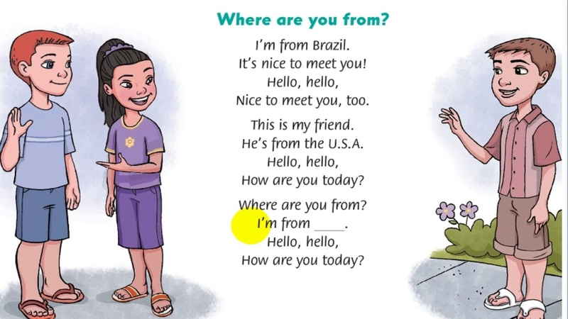 L4L English song for kids Where are you from