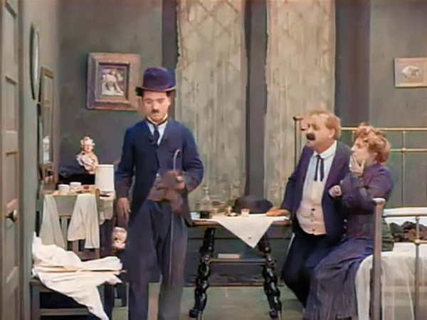 Charlie Chaplin A Busy Day Laurel Hardy Colorization