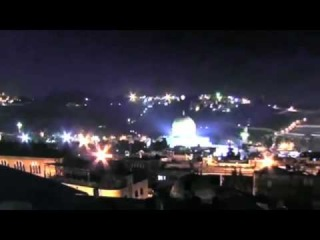 Strange light over Al-Aqsa Mosque Dome of the Rock Jerusalem| Some calling this UFO