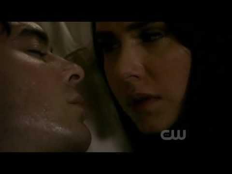 Vampire Diaries | Season 2 Episode 22 | 2x22 | Damons and Elenas Kiss Scene | Delena Love